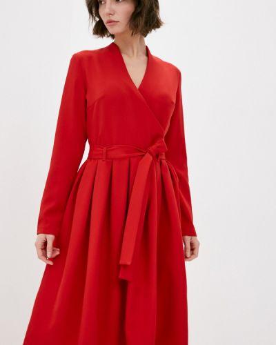 Красное платье с запахом Adzhedo