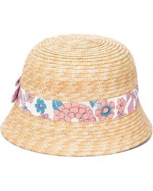 Beżowy kapelusz bawełniany Chloé Kids