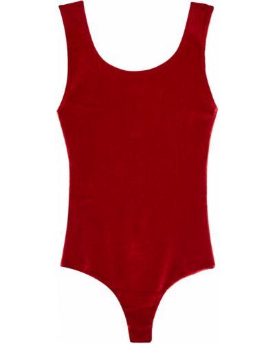 Бархатное боди - красное Forte Couture