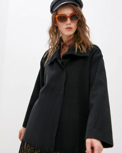 Черное пальто Patrizia Pepe