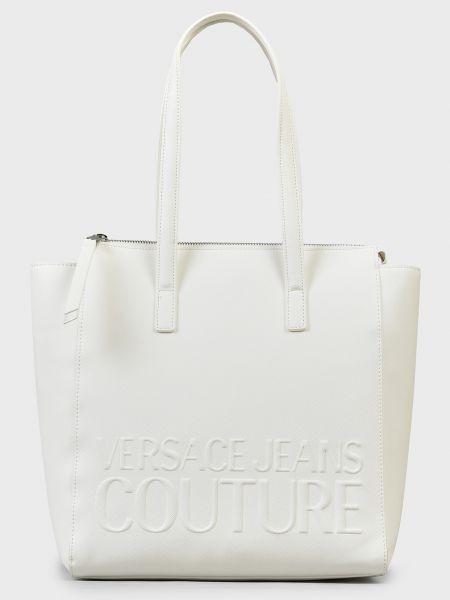 Кожаная сумка - белая Versace Jeans Couture
