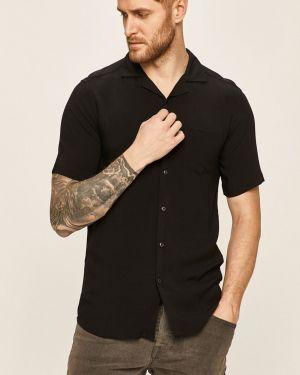 Koszula klasyczna z wiskozy z kołnierzem Only & Sons