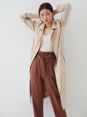 Коричневые брюки из вискозы Zarina