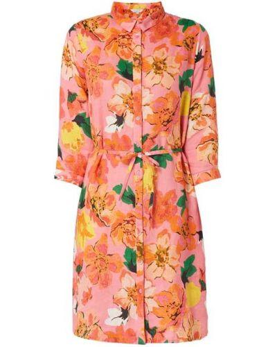 Różowa sukienka z wiązaniami Frogbox