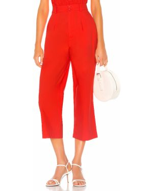 Prążkowane czerwone spodnie bawełniane Camila Coelho