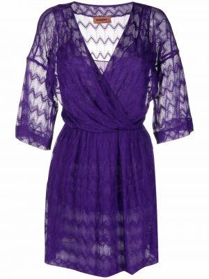 Шелковое платье - фиолетовое Missoni