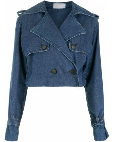 Синяя куртка с манжетами Andrea Bogosian