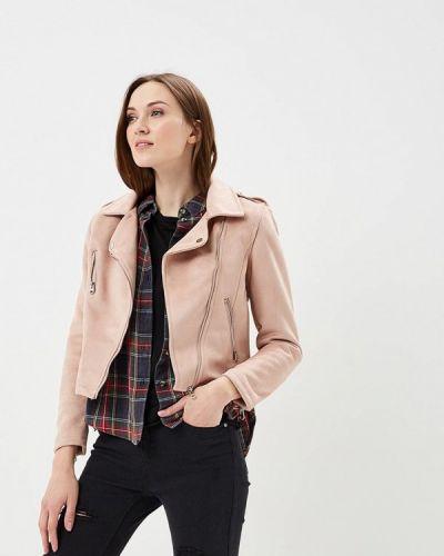 Кожаная куртка весенняя розовая Jennyfer