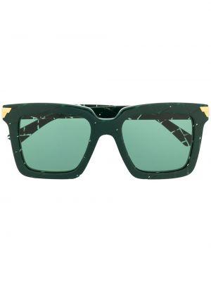 Золотистые солнцезащитные очки квадратные хаки Bottega Veneta Eyewear