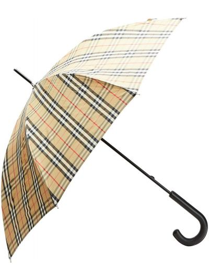 Beżowy parasol skórzany vintage Burberry