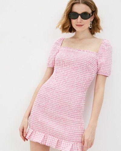 Прямое розовое джинсовое платье Guess Jeans
