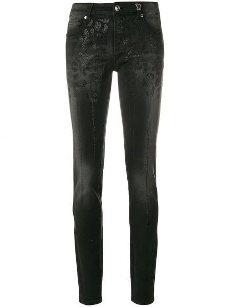 Хлопковые черные облегающие джинсы-скинни Versace Jeans Couture