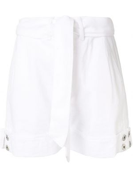 Джинсовые шорты с завышенной талией - белые Jonathan Simkhai