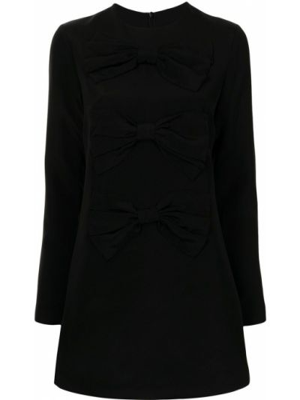 Шелковое платье макси - черное Macgraw