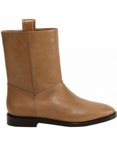 Beżowe ankle boots Closed