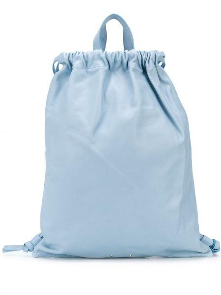Синяя кожаная сумка Pb 0110