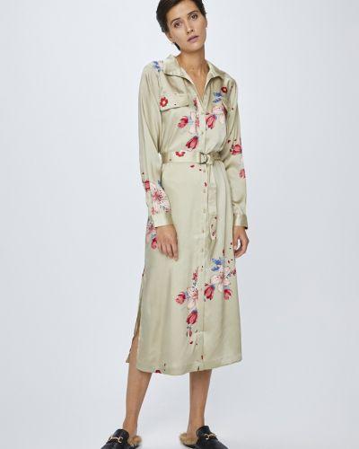 Платье с поясом на пуговицах с длинными рукавами Pepe Jeans