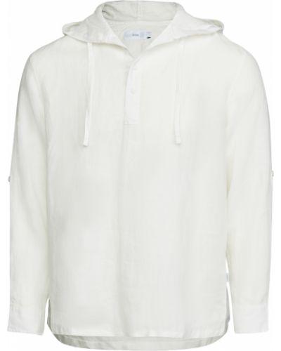Biała koszula z kapturem z długimi rękawami Onia