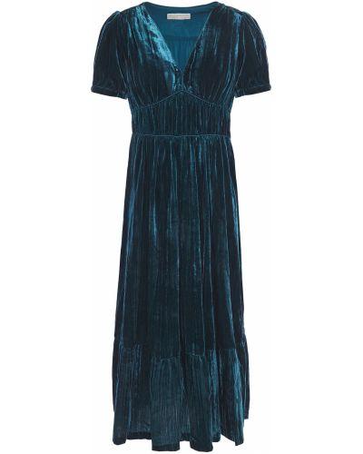 Бархатное платье миди с подкладкой Michael Michael Kors