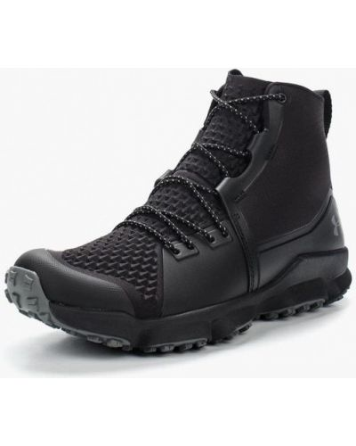 Ботинки осенние треккинговые черные Under Armour