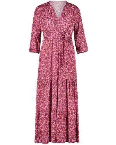 Różowa sukienka długa z printem Freebird