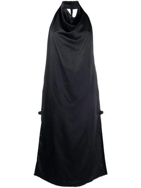 Платье миди средней длины - синее Bevza