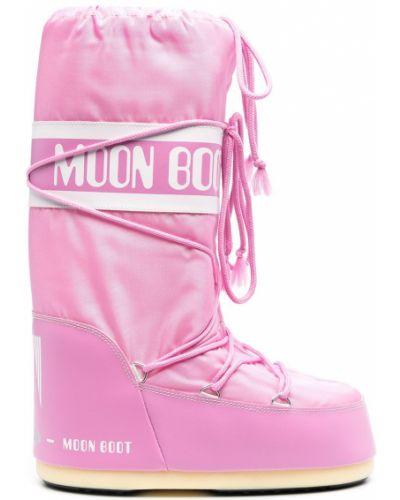 Botki koronkowe - białe Moon Boot