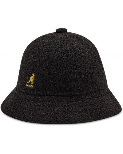 Złota czarna czapka na co dzień Kangol