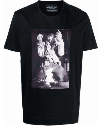 Czarny t-shirt bawełniany krótki rękaw Limitato