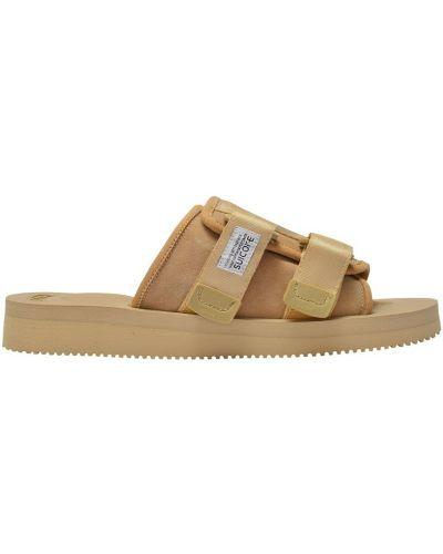 Brązowe sandały skórzane Suicoke