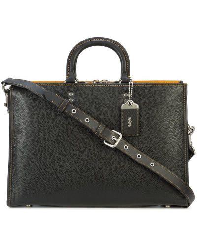 Портфель на молнии черный Coach