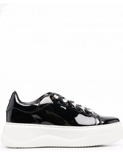 Кожаные кроссовки - черные Cult