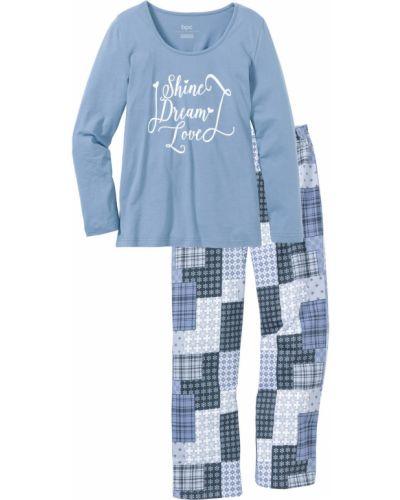 Пижама с брюками с длинными рукавами пижамный Bonprix