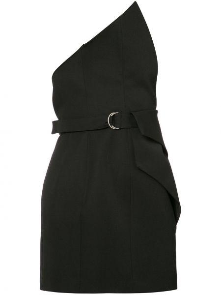 Bluzka asymetryczna - czarna Saint Laurent