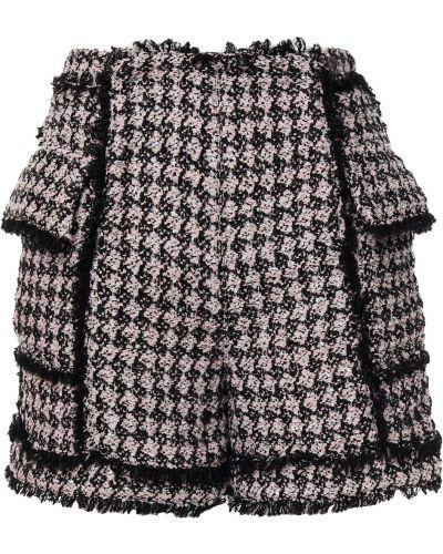 Черные шорты с пайетками Balmain