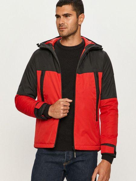 Прямая красная куртка с капюшоном Jack & Jones
