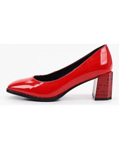 Лаковые кожаные красные туфли Dino Ricci
