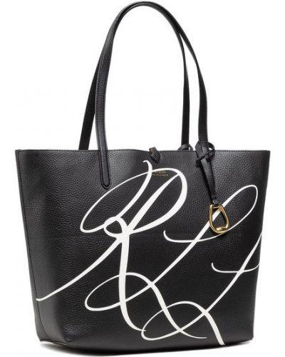 Czarna torebka średnia Lauren Ralph Lauren