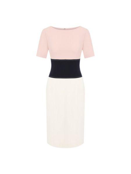 Платье с поясом розовое бандажное Atelier Caito For Herve Pierre