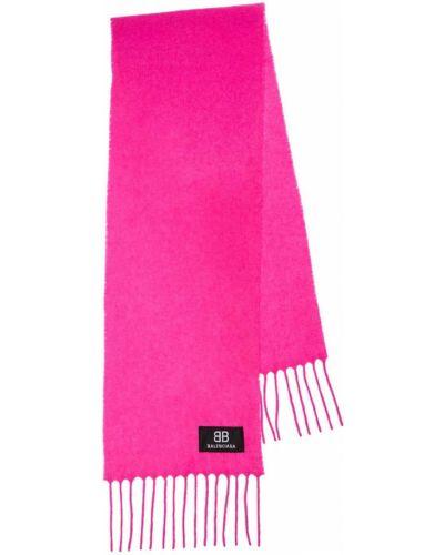 Szalik wełniany - różowy Balenciaga