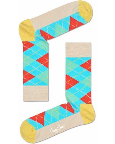 Носки с узором желтый Happy Socks