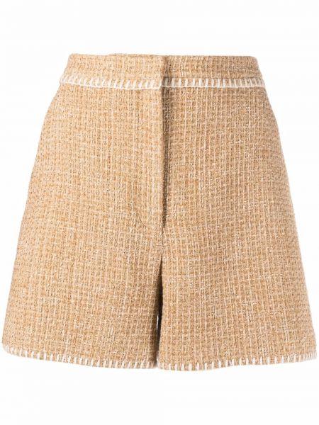 Бежевые шорты из полиэстера Boutique Moschino