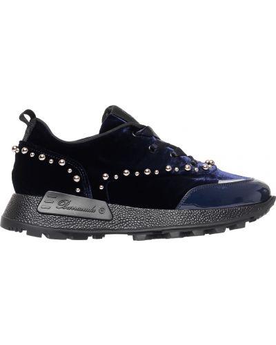 Синие кроссовки велюровые Barracuda