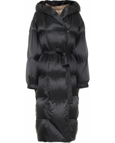 Пуховое черное дутое пальто Max Mara