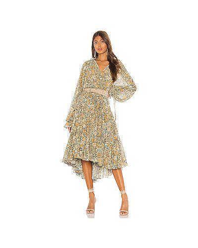 Платье из вискозы с воротником Free People