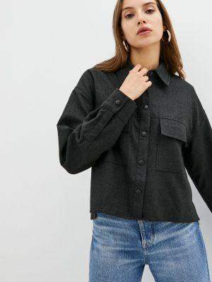 Серая рубашка с длинным рукавом с длинными рукавами Calvin Klein Jeans