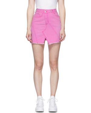 Юбка мини джинсовая асимметричная Sjyp