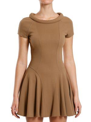 Платье из вискозы - бежевое Plein Sud