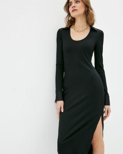 Прямое черное платье Imperial