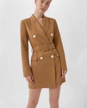 Платье с поясом платье-пиджак базовый Stradivarius
